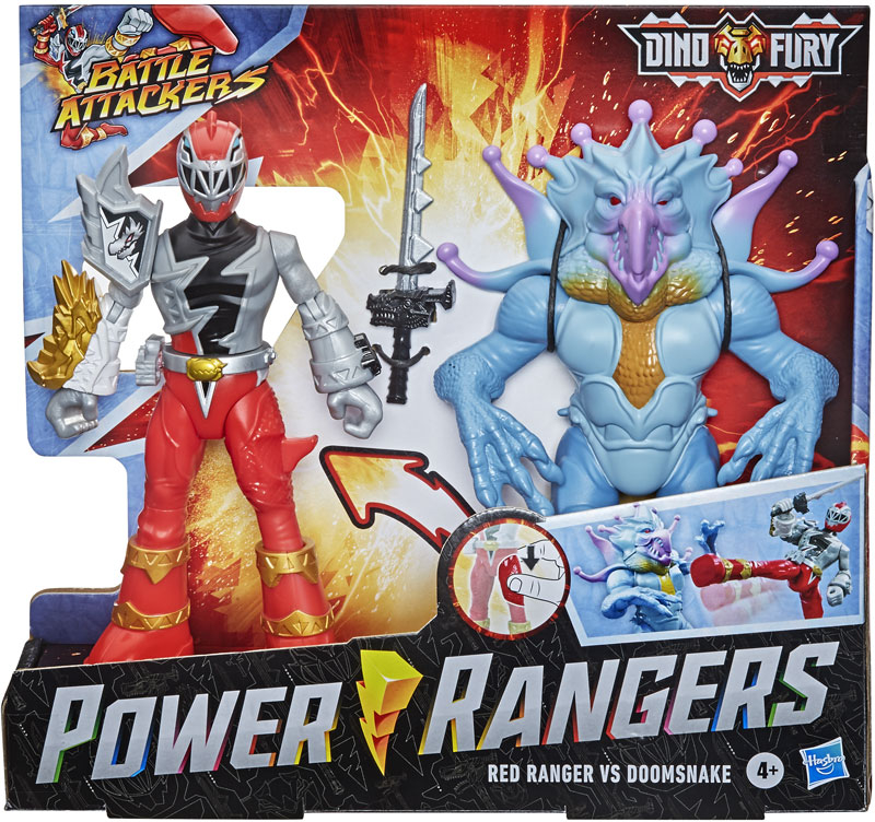 Wholesalers of Power Rangers Dino Fury Battle Attackers Red Ranger toys