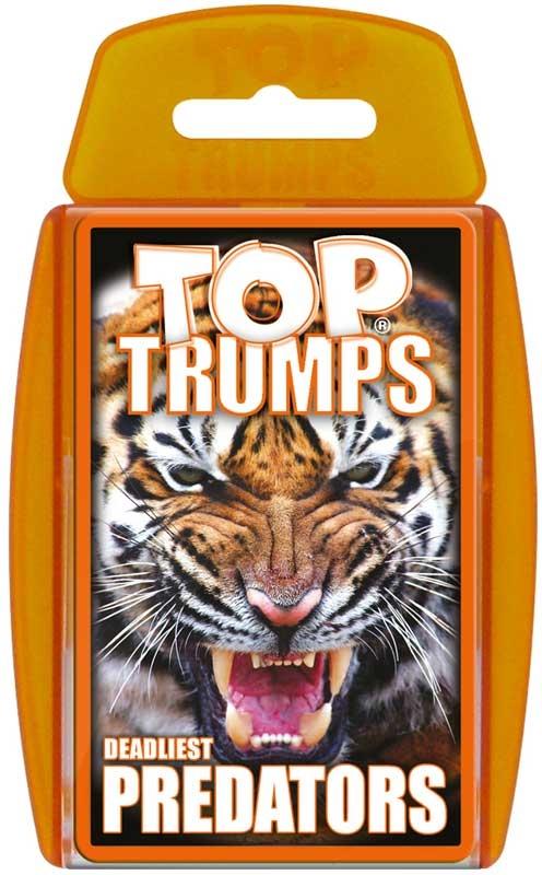 Wholesalers of Top Trumps - Predators toys