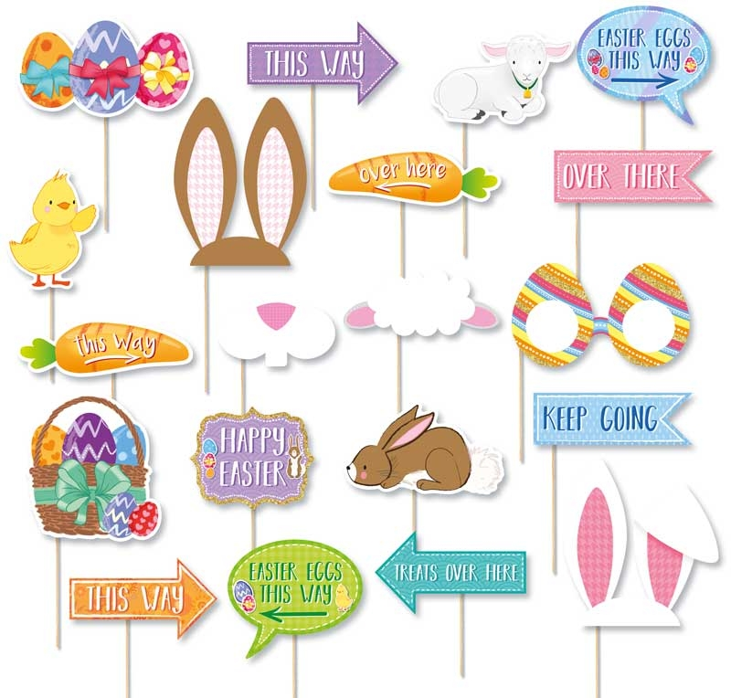 Wholesalers of Props Easter Hunt Asst Designs With Stick toys