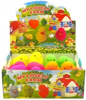 Wholesalers of Puffer Chicken With Light 7cm 6 Asst Cols toys image 2