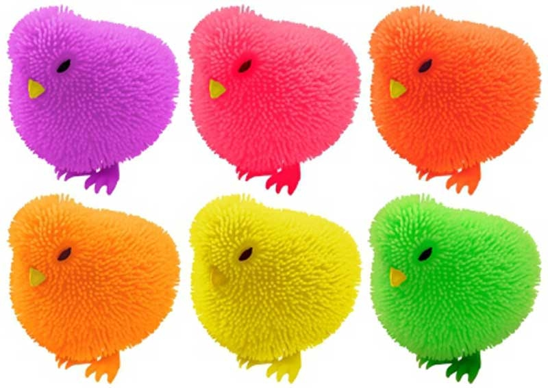 Wholesalers of Puffer Chicken With Light 7cm 6 Asst Cols toys