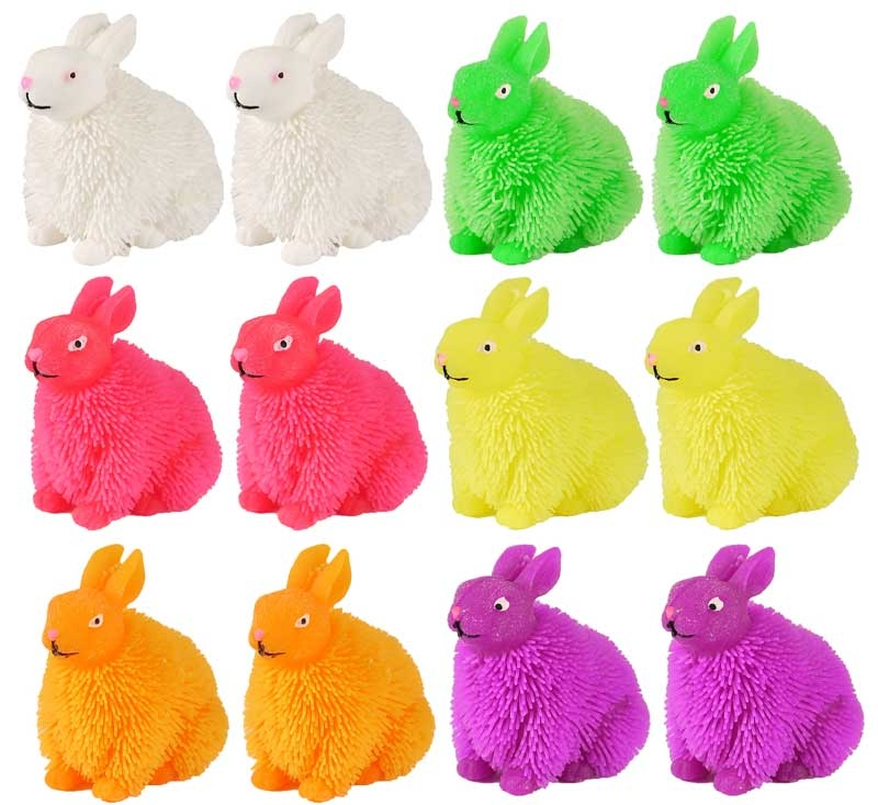 Wholesalers of Puffer Rabbit With Light 13cm 6 Asst Cols toys