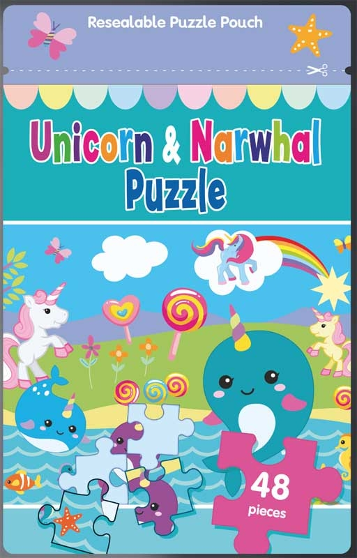 Wholesalers of Puzzle Bag - Unicorn & Narwhal toys