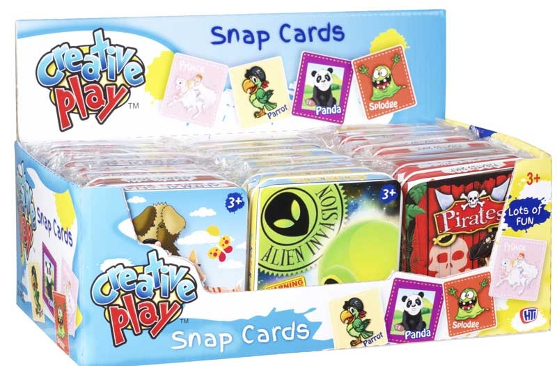 Wholesalers of Puzzle Games In Tin Snap Cards 4 Asst toys