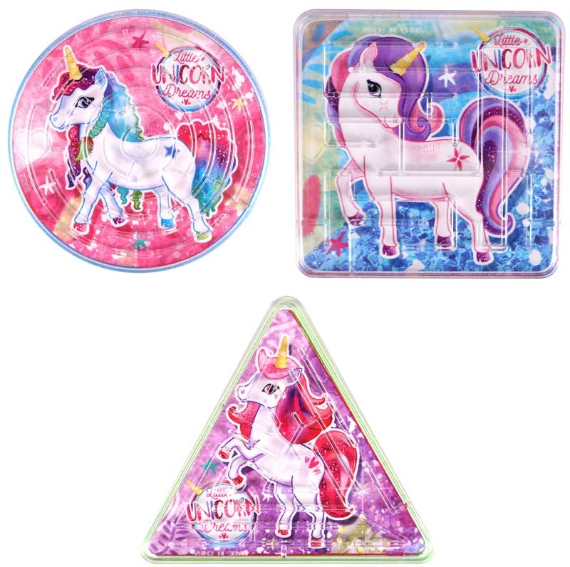 Wholesalers of Puzzle Maze Unicorn 3 Asst Shapes toys
