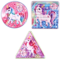 Wholesalers of Puzzle Maze Unicorn 3 Asst Shapes toys image