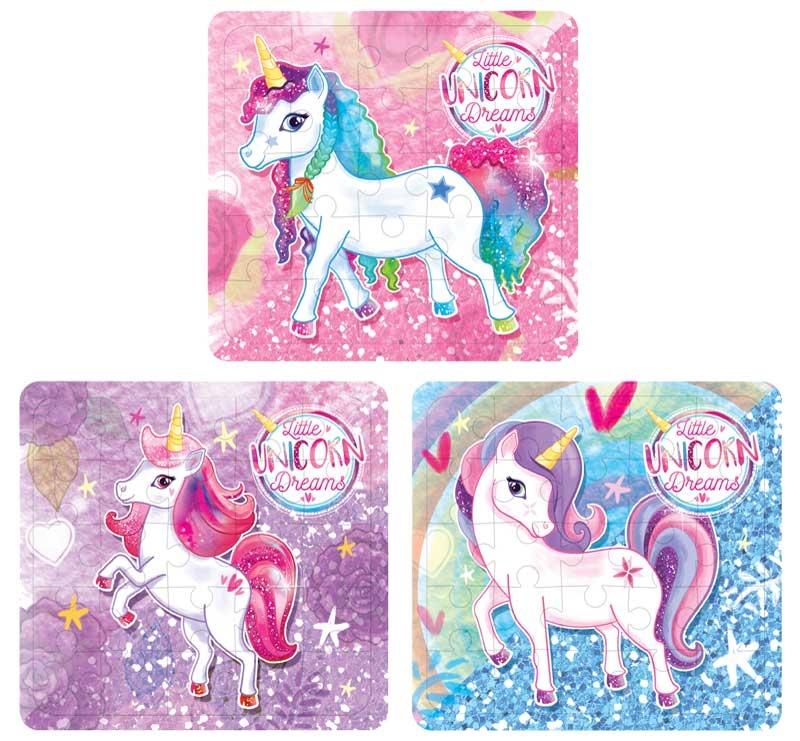 Wholesalers of Puzzle Unicorn 13cm X 12cm 3 Asst toys