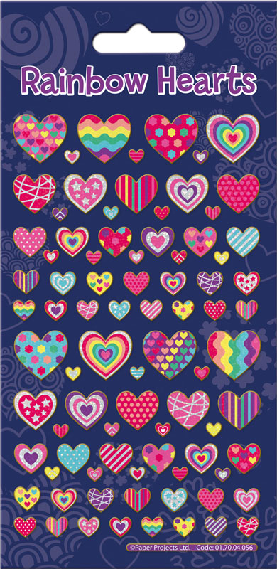 Wholesalers of Rainbow Hearts Sparkle Stickers toys