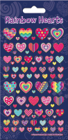 Wholesalers of Rainbow Hearts Sparkle Stickers toys image