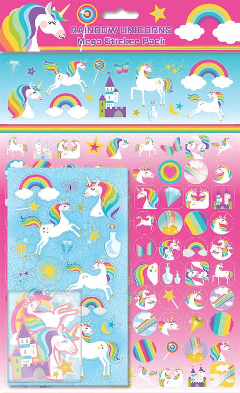 Wholesalers of Rainbow Unicorns Mega Pack Stickers toys