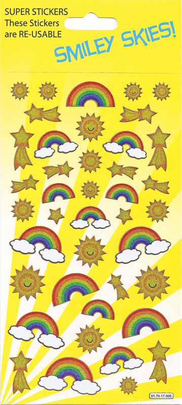Wholesalers of Rainbows And Sun Large Sparkle Stickers toys