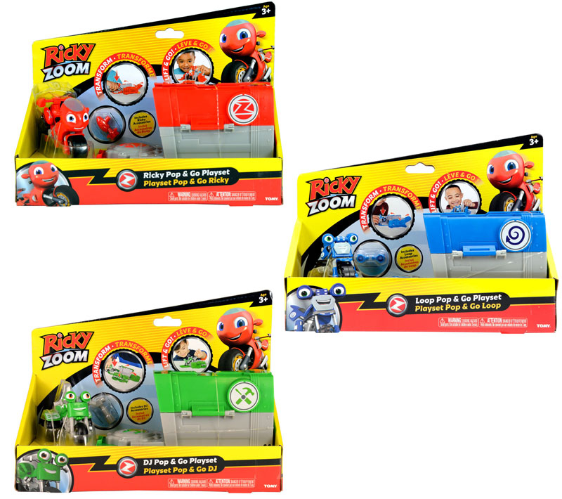 Wholesalers of Ricky Zoom Pop & Go Playset Asst toys