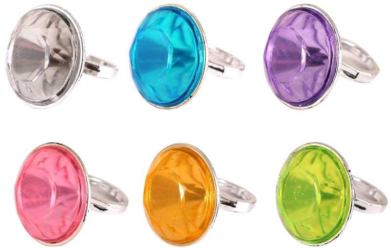 Wholesalers of Ring Diamond 4 X 3.1 Cm 6 Asst Cols toys