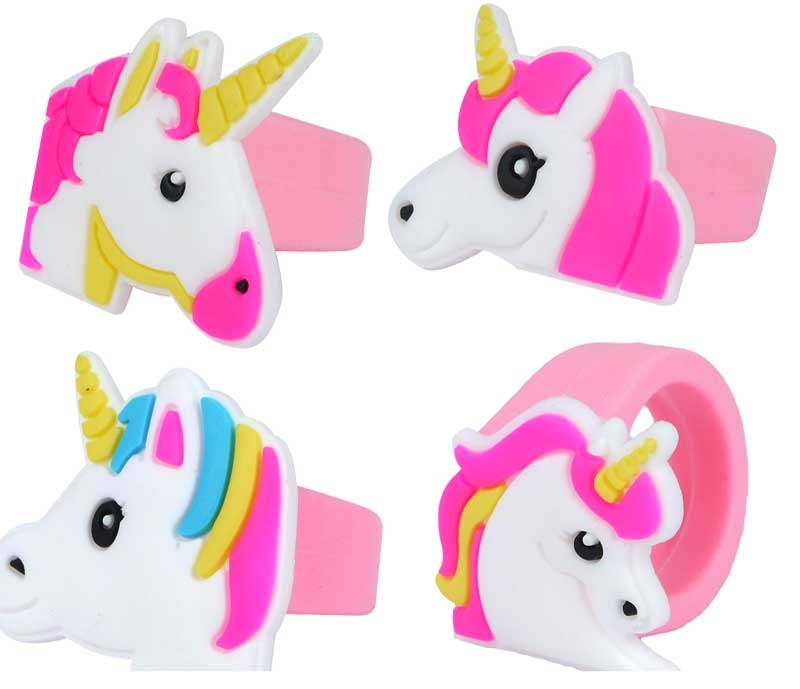 Wholesalers of Ring Unicorn 2x3cm 4 Asst Designs toys
