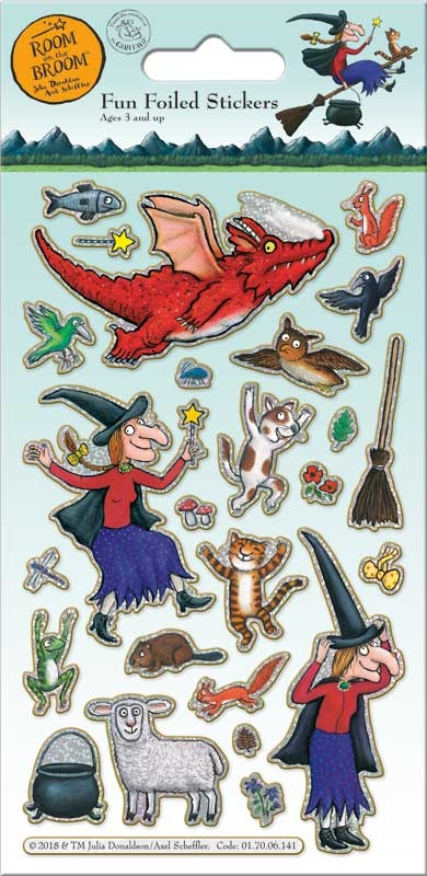 Wholesalers of Room On The Broom Foil  Stickers toys
