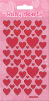 Wholesalers of Ruby Hearts Sparkle Stickers toys image