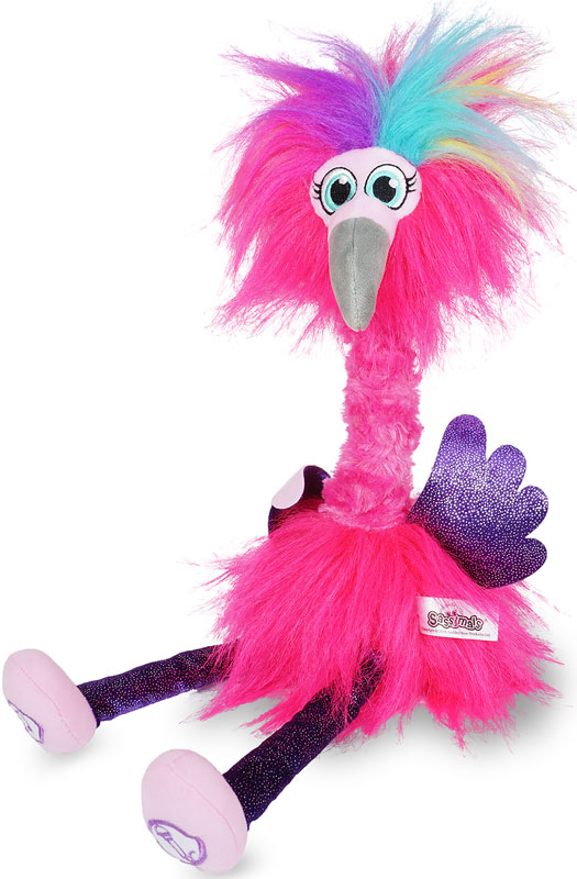Wholesalers of Sassimals Flossi The Flamingo Soft Toy toys