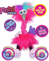 Wholesalers of Sassimals Flossi The Flamingo Soft Toy toys image 2