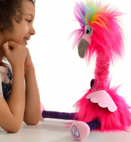 Wholesalers of Sassimals Flossi The Flamingo Soft Toy toys image 3