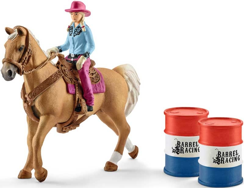 Wholesalers of Schleich Barrel Racing With Cowgirl toys