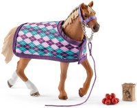 Wholesalers of Schleich English Thoroughbred With Blanket toys image