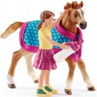 Wholesalers of Schleich Foal With Blanket toys image