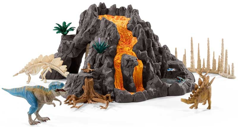 Wholesalers of Schleich Giant Volcano With T-rex toys