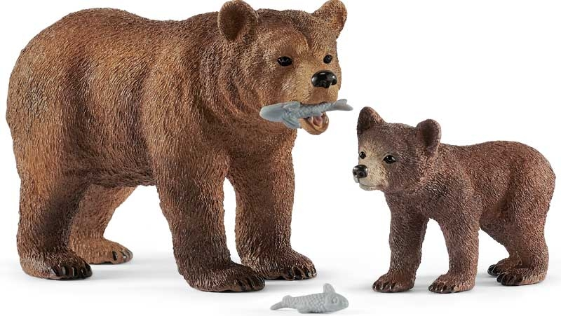 Wholesalers of Schleich Grizzly Bear Mother With Cub toys