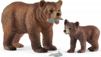 Wholesalers of Schleich Grizzly Bear Mother With Cub toys image