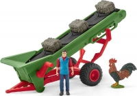 Wholesalers of Schleich Hay Conveyor With Farmer toys image