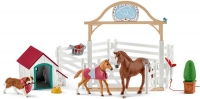 Wholesalers of Schleich Horse Club Hannahs Guest Horses With Ruby The Dog toys image