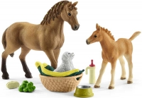 Wholesalers of Schleich Horse Club Sarahs Baby Animal Care toys image
