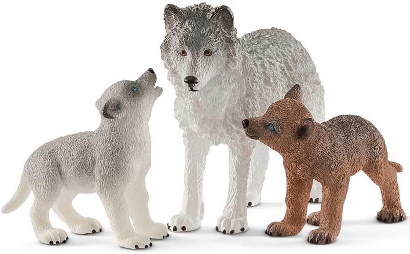 Wholesalers of Schleich Mother Wolf With Pups toys