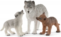 Wholesalers of Schleich Mother Wolf With Pups toys image