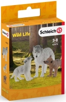 Wholesalers of Schleich Mother Wolf With Pups toys image 2