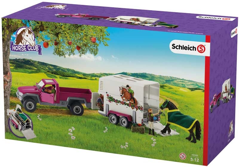 Wholesalers of Schleich Pick Up With Horse Box toys