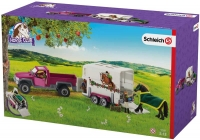 Wholesalers of Schleich Pick Up With Horse Box toys image