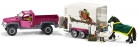 Wholesalers of Schleich Pick Up With Horse Box toys image 3