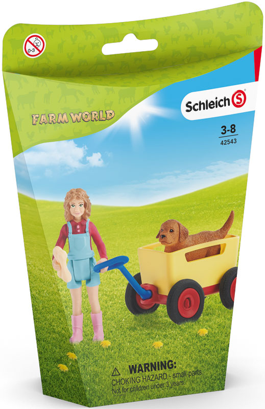 Wholesalers of Schleich Puppy Wagon Ride toys