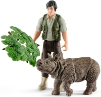 Wholesalers of Schleich Ranger And Indian Rhinoceros Starter Set toys image