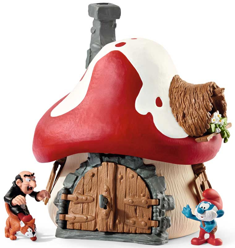 Wholesalers of Schleich Smurf House With 2 Figurines toys