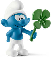 Wholesalers of Schleich Smurf With Clover Leaf toys image