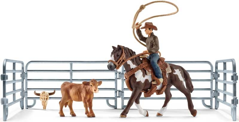 Wholesalers of Schleich Team Roping With Cowboy toys