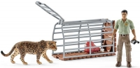 Wholesalers of Schleich Trap With Ranger toys image