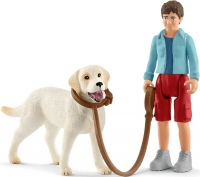 Wholesalers of Schleich Walking With Labrador Retriever toys image