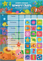 Wholesalers of Sealife Friends Reward Chart Stickers toys image