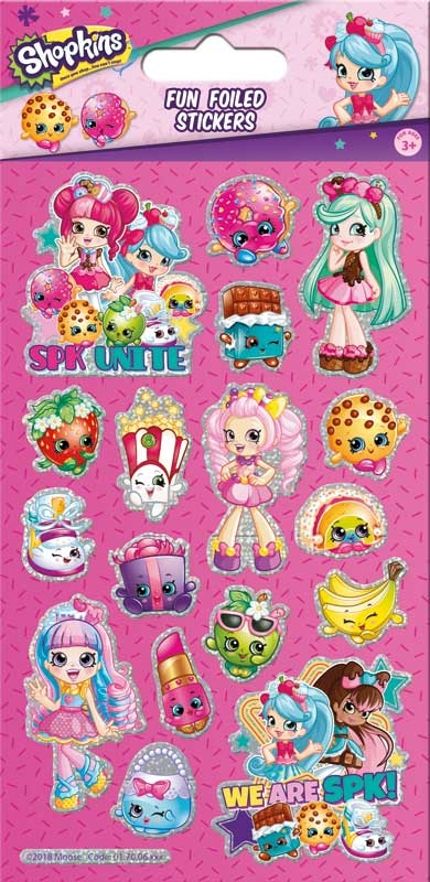 Wholesalers of Shopkins & Shoppies Foil Stickers toys