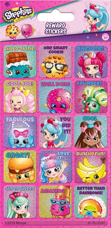 Wholesalers of Shopkins & Shoppies Reward Stickers toys