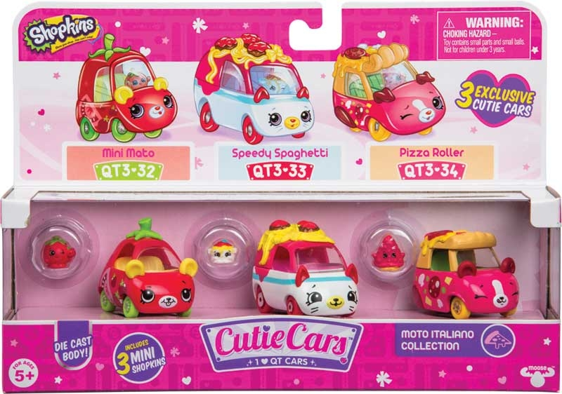 Wholesalers of Shopkins Cutie Cars 3 Pack 4 Asst - S3 toys