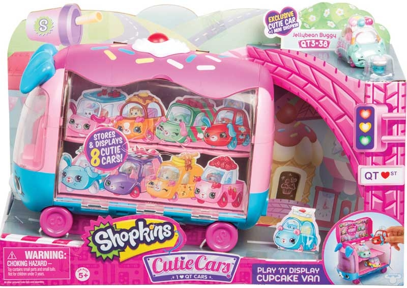 Wholesalers of Shopkins Cutie Cars Play N Display Cupcake Van toys